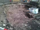 Arkæologisk udgravning mellem rådhuset og Apotekerhaven